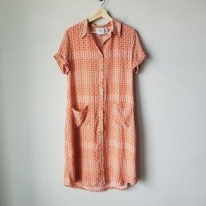 L'Academie Revolve Shirt Dress Button Front Orange